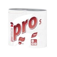 Бумага туалетная трехслойная с тиснением Protissue Premium, 1х4рул, 18м, упак.