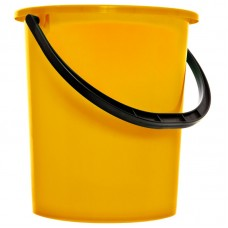 Ведро пластиковое, пищевое OfficeClean, мерная шкала, желтое, 9л