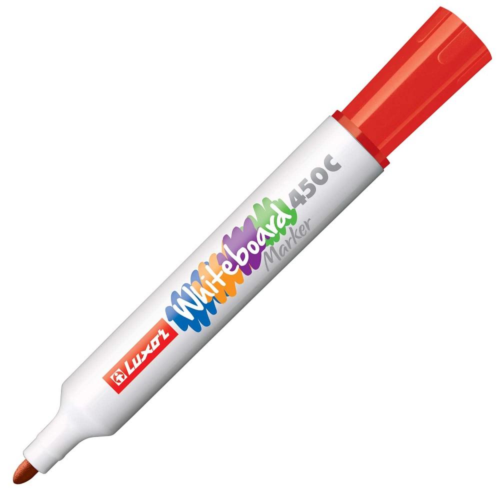 Маркер для белых досок 450С Luxor красный, пулевидный, 1-3 мм