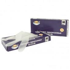 Перчатки эластомерные Aviora, M, 100шт., картонная коробка