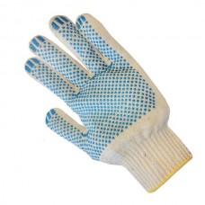Перчатки трикотажные. х/б 10 класс  ПВХ, точка, белые