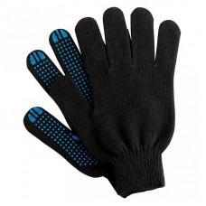 Перчатки х/б, ПВХ, 6 нитей, чёрные