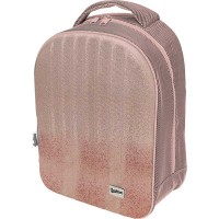 Рюкзак блестящий Seventeen с EVA панелью Розовый перламутр