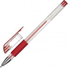 Ручка гелевая Attache Economy 0,3-0,5 мм, красная, манжетка