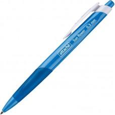 Ручка шариковая автоматическая Attache Sun Flower, линия 0,5мм, синий корпус, синяя