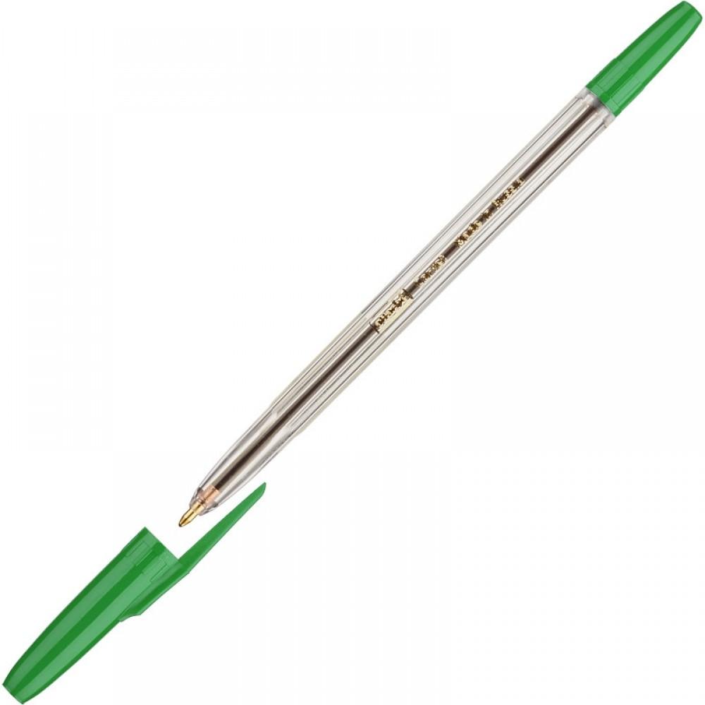 Ручка шариковая Attache Corvet, линия 0,7мм, зелёная