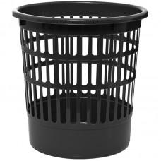 Корзина для бумаг сетчатая OfficeClean, 9л, пластик, чёрная