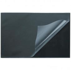 Настольное покрытие Attache с прозрачным листом, 38х59см, чёрное